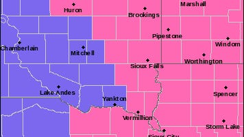 Winter Storm Warning map