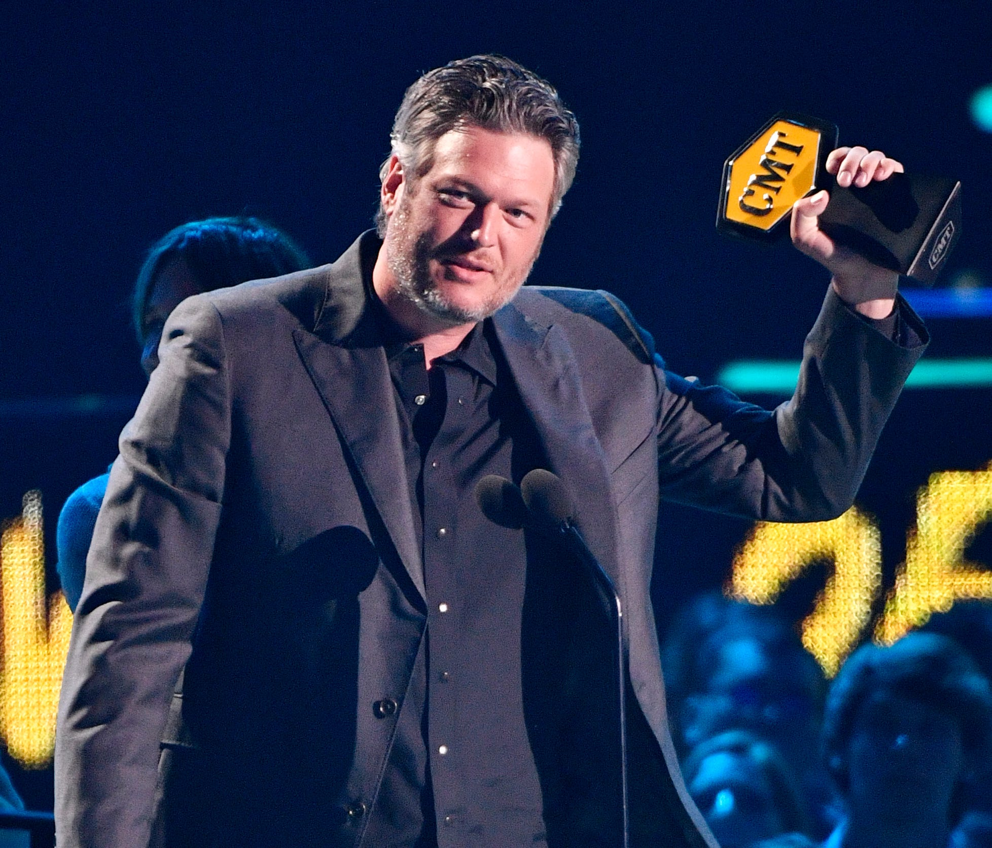 Blake Shelton accepts the Video of the Year award at the 2018 CMT Awards Wednesday, June 6, 2018, at Bridgestone Arena in Nashville, Tenn.