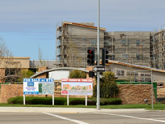A new Marriott Residence Inn  is under construction