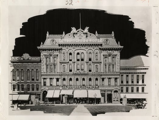 Hudson's original location in the old Detroit Opera