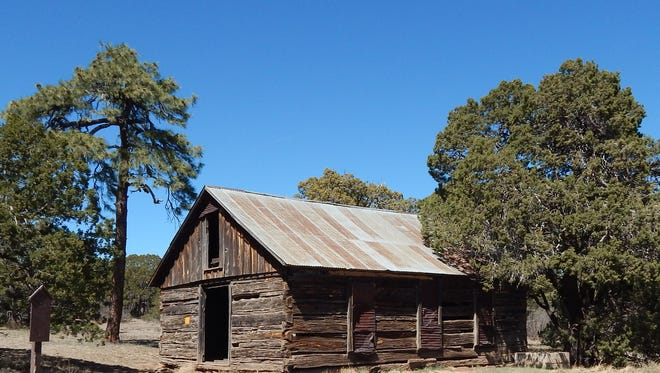 The Jicarilla schoolhouse is located between White Oaks and Ancho.