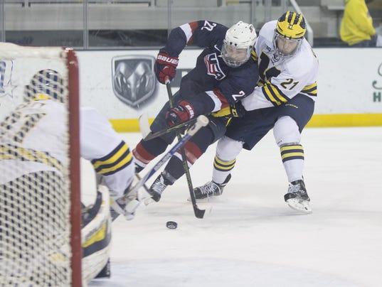 USA NTDP u18s vs University of Michigan