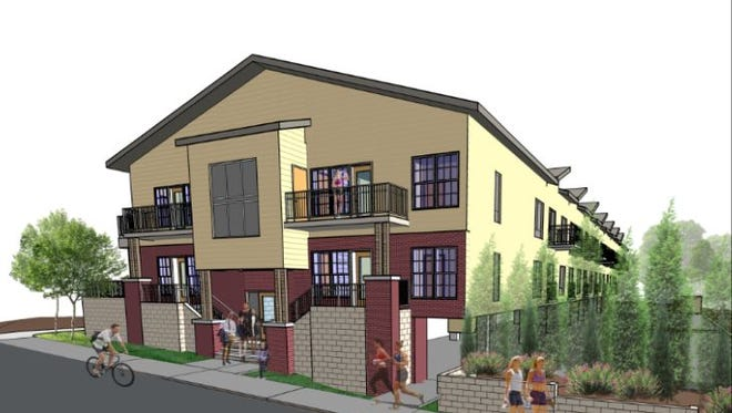A rendering of the Pearl Street Apartments that['s rising at Pearl and Fisk streets in Midtown Nashville.