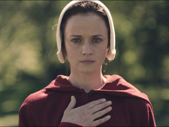 Alexis Bledel, most recently seen in the return of 'Gilmore Girls' on Netflix, stars in Hulu's 'The Handmaid's Tale.'