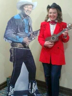 Kay Kuhlmann brings Dale Evans to life in her Chautauqua.