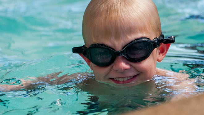 Ability swim lessons are given to students at the YMCA in Prattville, Ala. on Thursday February 23, 2017.
