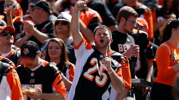 Bengals fans had a lot to cheer about during Sunday's 24-10 win against the Atlanta Falcons.