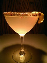 The Nutcracker, a cocktail that includes a pecan simple