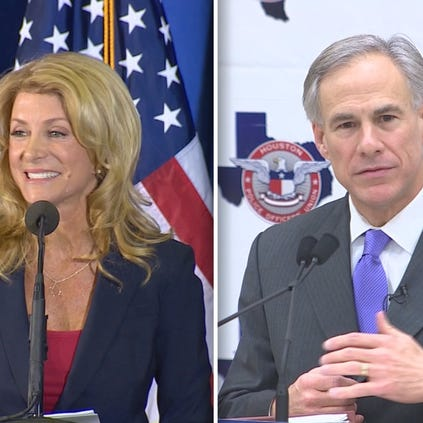 As Greg Abbott, the Republican front-runner, unveiled the final piece of his higher education plan on a college campus in Dallas, Democrat Wendy Davis spoke before a rally of supporters at the University of Houston.