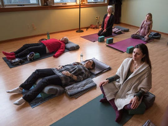 Elevate Yoga, Hazlet, held a meditation class on Tuesday.