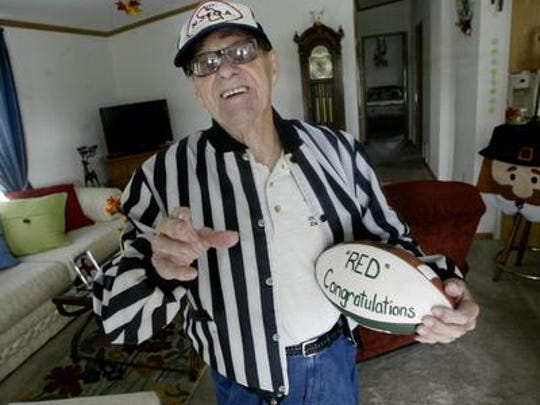 Sophia DiGiovanni's great grandfather, Red Losiewicz, remains one of the state's most respected high school football officials.