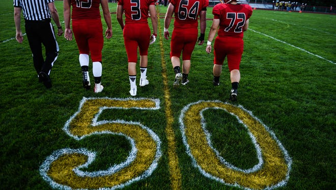 Annville-Cleona celebrated 50 years of football and defeated Hanover on Friday, Sept. 15, 2017.