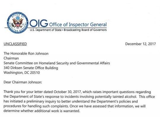 Inspector General letter.