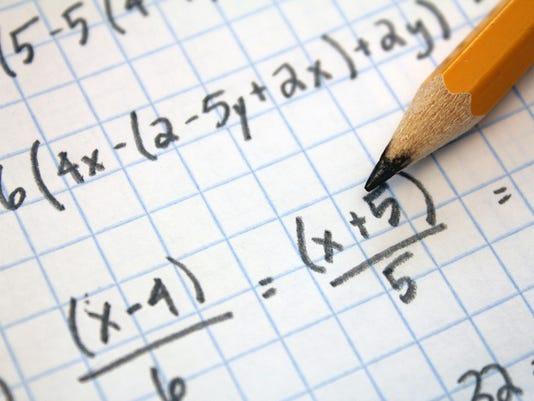 school math testing stock