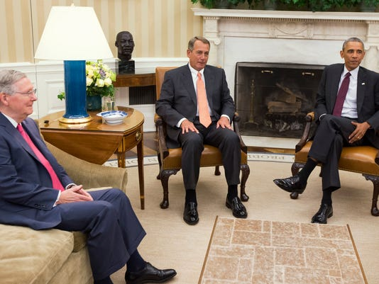 Barack Obama, John Boehner, Mitch McConnell,