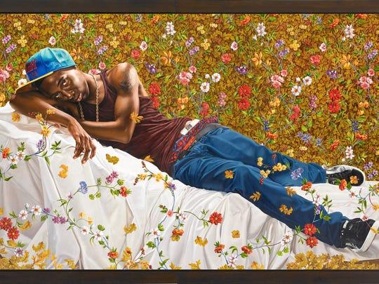 Kehinde Wiley, Morpheus, 2008. Oil on canvas. Courtesy of Roberts & Tilton, Culver City, California; Sean Kelly, New York; Galerie Daniel Templon, Paris; and Stephen Friedman Gallery, London.