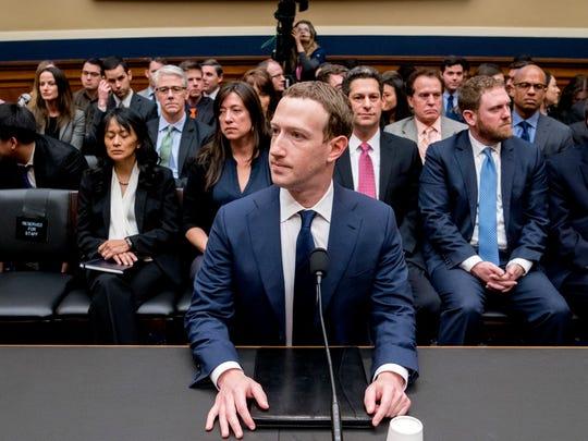 Facebook CEO Mark Zuckerberg arrives to testify before