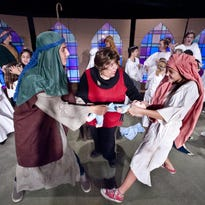 """Rehearsal for Tulare Encore Theatre's production of """"The Best Christmas Pageant Ever"""" on Monday, November 23, 2015."""
