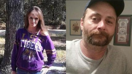 Allison Gilcrease (left) and James Michael Jeane last were seen on Christmas Day.