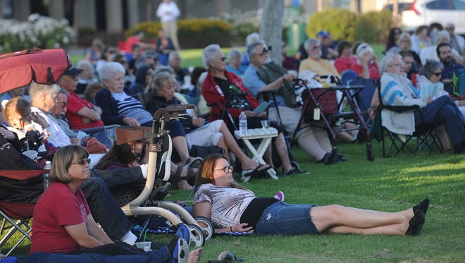 Free concerts put on by the Camarillo Community Band draw a crowd.