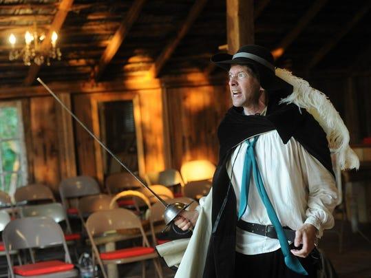 "Jeff Gilbert has the lead role in OrangeMite's  ""Cryano de Bergerac."""