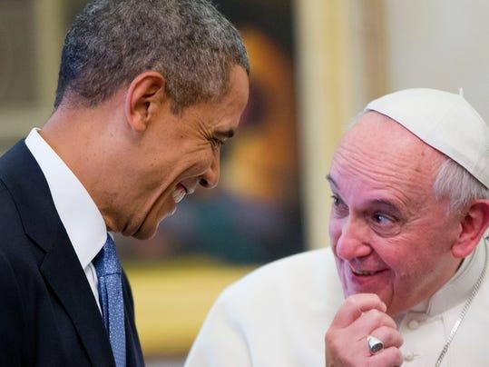 Barack Obama, Pope Francis, Mark Miles