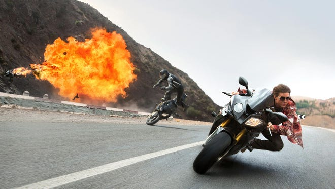 "Tom Cruise is back performing his own stunts as Ethan Hunt in ""Mission: Impossible – Rogue Nation""."