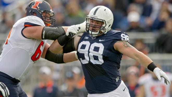 Penn State's Anthony Zettel ranks fourth on the team with 10 tackles for loss, including three sacks.