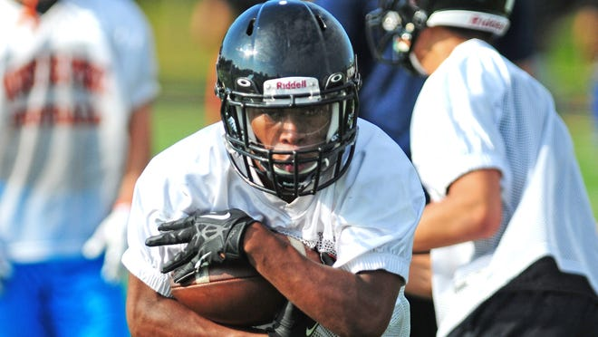 West De Pere High School running back Dom Conway during practice in August.