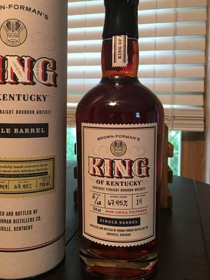 An Evansville Craigslist post advertises a bottle of King of Kentucky bourbon for $750.