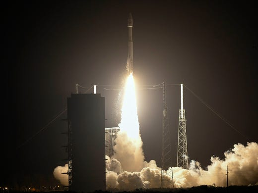 A United Launch Alliance Atlas V rocket takes off