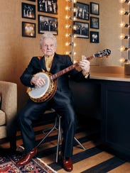 Ralph Stanley relaxes backstage at the Grand Ole Opry