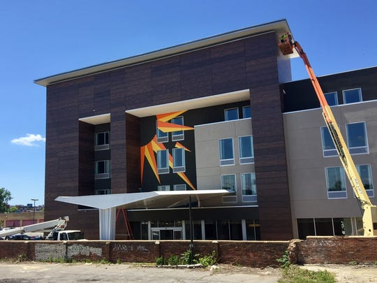 The LaQuinta Inn & Suites appears to be nearing completion at 310 Union.