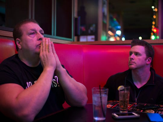 """Bill """"El Wingador"""" Simmons,  left, will partner with author Joe Vallee,   right, and Bob Silzle to open a restaurant."""