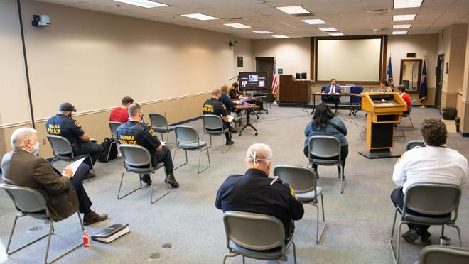 The Police and Community committee met Monday at the Law Enforcement Center, 320 S. Kansas Ave., for the first discussion over reviewing key areas of police policy.