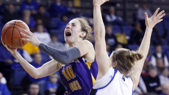 Former Northern Iowa guard Jacqui Kalin had just returned to the U.S. from Israel when the latest rounds of Middle East conflict surfaced. She has signed a contract to return to Israel in late September for another basketball season, but says she may have to think twice if fighting escalates.