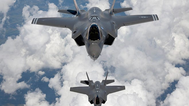 This undated file photo provided by Northrop Grumman Corp., shows a production model of a F-35 A Joint Strike Fighter.