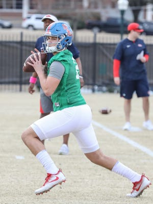 A lot of attention was placed on quarterback Matt Corral in his first week of practice at Ole Miss.