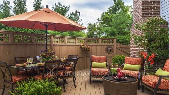Design your outdoor space just like you design your indoor space.