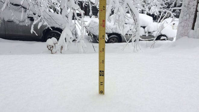 Some Portland areas saw up to 10 inches of snow Wednesday.