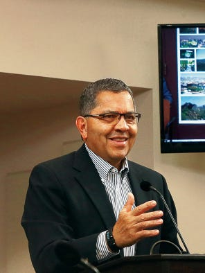 Former El Paso Mayor Joe Wardy will become the new CEO of the Hub of Human Innovation in January. He is shown here in July talking to City Council as a chairman of the city Ad-Hoc Charter Advisory Committee.