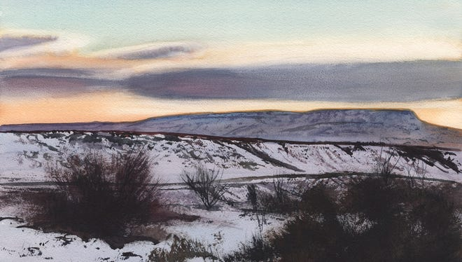 A watercolor painting by local artist Robert Highsmith. Highsmith will have a one-man show of his work at Cutter Gallery  with an artist reception on March 3.