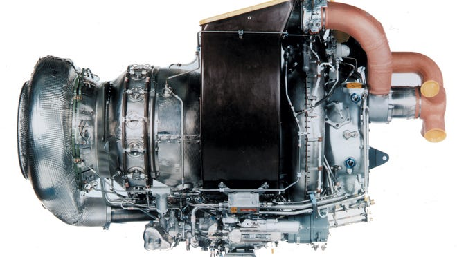 A Pratt & Whitney auxiliary power unit, part of United Technologies' impressive aerospace portfolio.