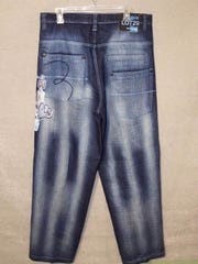 A pair of jeans similar to those worn by the decedent.