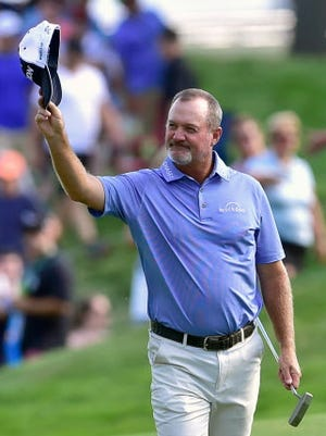 Jerry Kelly of Madison won a golf tournament for the first time in eight years.