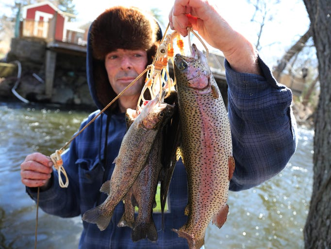 Robert Healey of Vernon reached his limit of six trout