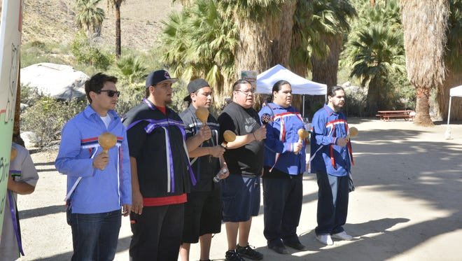 Bird singers perform. It's an Agua Caliente Band of Cahuilla Indians tradition that will be a part of Native American Learning Day.
