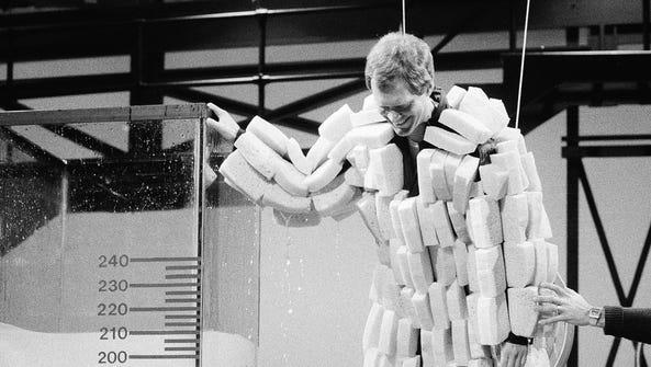 The sponge suit wasn't my favorite Letterman suit gag,