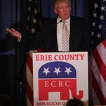 Donald Trump was the guest of honor and keynote speaker at the Erie County Republican Committee Lincoln Leadership Reception at Salvatore's Italian Gardens in Cheektowaga, N.Y. Jan. 31.