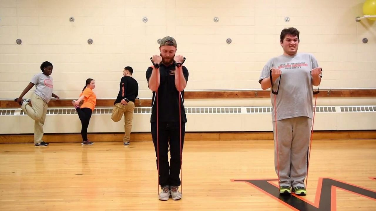 Students in Young Adult Transition Program participate in individualized physical education with WPU students.